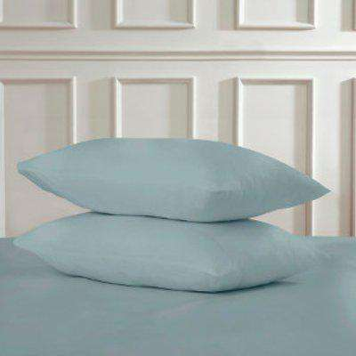 Polycotton Housewife Pillowcases - Duck Egg