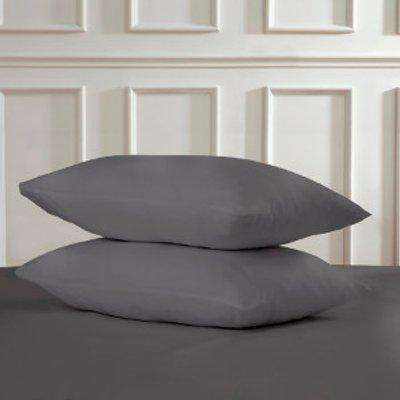Polycotton Housewife Pillowcases - Charcoal