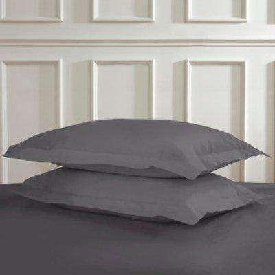 Polycotton Oxford Pillowcases - Charcoal