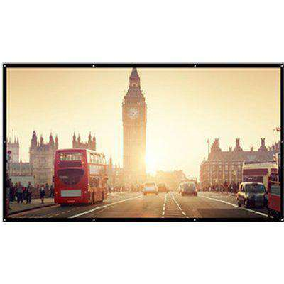 Portable Folding Projector Screen - White / 120 Inches