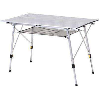 Portable Rollup Aluminium Picnic Table - Silver