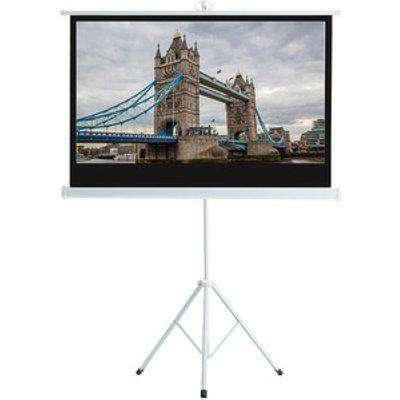 Portable Tripod Projector Screen - White / 72 Inches