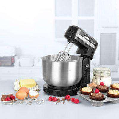 Progress Compact Stand Mixer,  Loaf Pan and Metallic 26cm Pan
