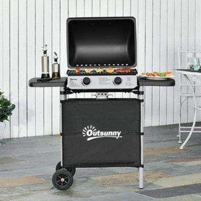 Propane Gas Barbecue Grill - Black