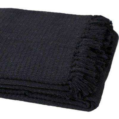 Pure Cotton Honeycomb X Large Chair Sofa Bed Throws - Black