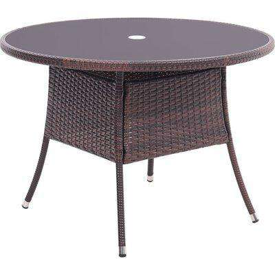 Rattan Dressing Garden Coffee Table - Brown / Round