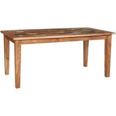Reclaimed Boat Small Dining Table - Multicolour