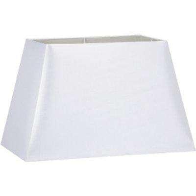 White Rectangular Tapered Table Lamp Shade - 35cm