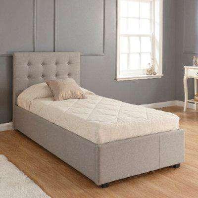 Regal Storage Ottoman Bed Frame - Grey / Single