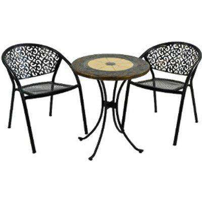 Rennes Bistro Set With Two Florence Chairs