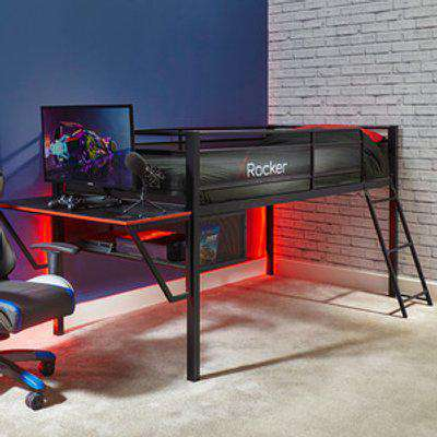 Sanctum mid sleeper bed and desk gaming