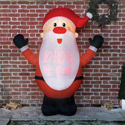 6ft Santa With Ho Ho Ho Projector