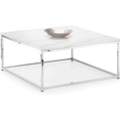 Scala Marble Top Coffee Table - White