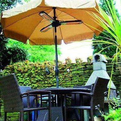 Schallen Halogen Parasol Outdoor Heater - Black