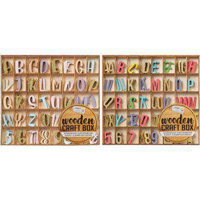 Craft Sensations Wooden Colour Shapes Craft Box