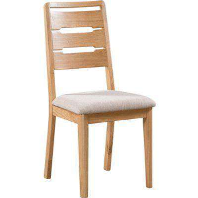 Set Of 2 Curve Dining Chairs - Oak