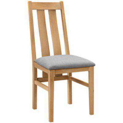 Set of 2 Kingham Dining Chairs - Oak/Grey