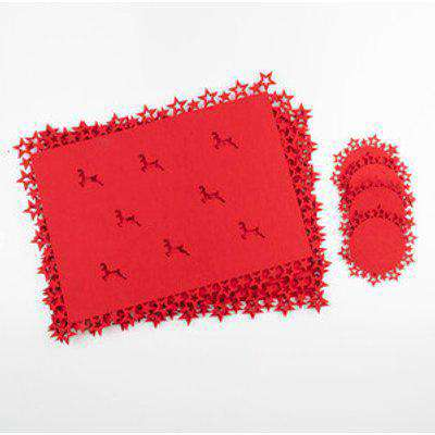 Set Of 4 Placemats And Coaster Set