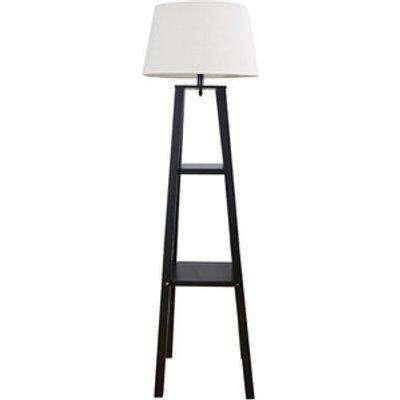 Seville Wooden Shelf Floor Lamp -