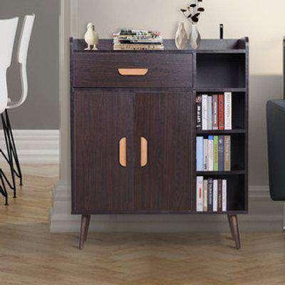 Side Cabinet Hallway Storage Unit - Walnut