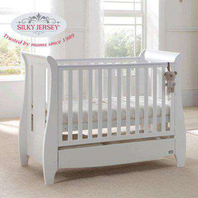 Silky Jersey Baby Cot Crib Bed Fitted Sheets  - White / Small Single