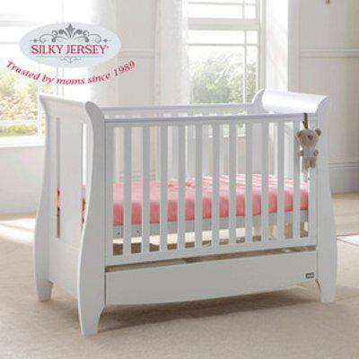 Silky Jersey Baby Cot Crib Bed Fitted Sheets  - Pink / Junior
