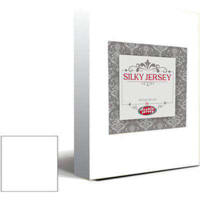Silky Jersey Fitted Bedsheet White  - White / Queen