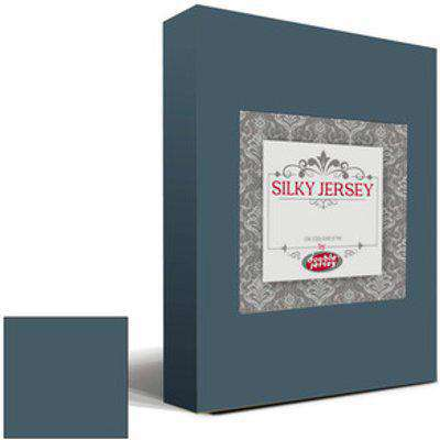 Silky Jersey Fitted Bedsheet Single - Stone Grey