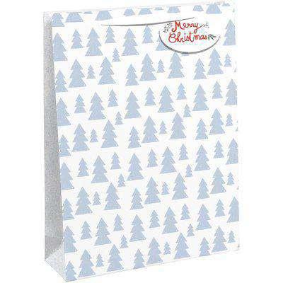 Silver Christmas Tree Gift Bag