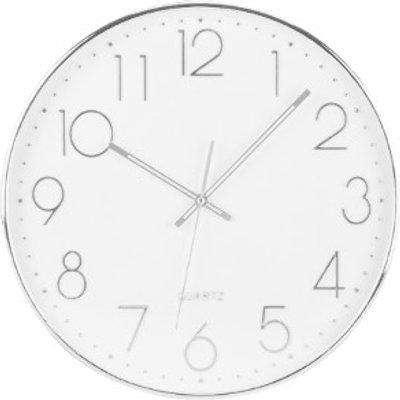Silver Digits Wall Clock