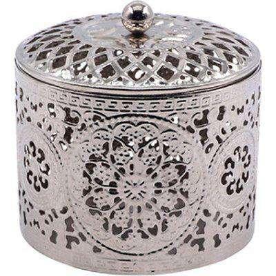 Silver Etched Trinket Box