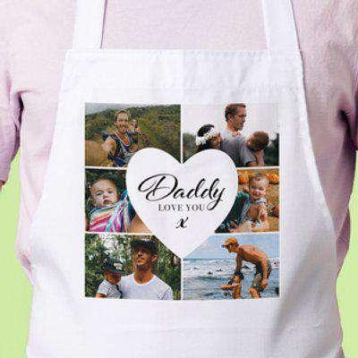 Six Photo Apron - Daddy, Love You