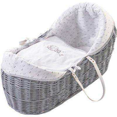 Sleepy Little Owl Grey Pod Moses Basket - Grey