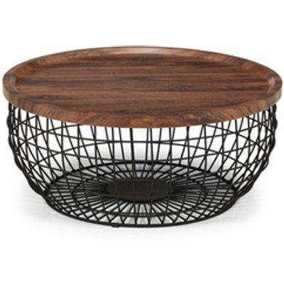 Smithson Storage Coffee Table - Walnut/Black