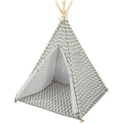 SoBuy Children Play Tent Teepee with Floor Mat  - Grey