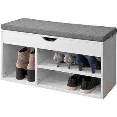 SoBuy White Shoe Storage Cabinet Shoe Rack Bench Seat
