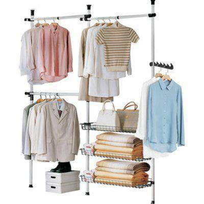SoBuy Telescopic Wardrobe Clothes Rack