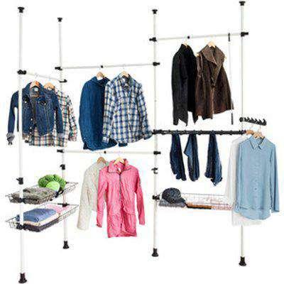 SoBuy Telescopic Wardrobe Organiser Clothes Rack