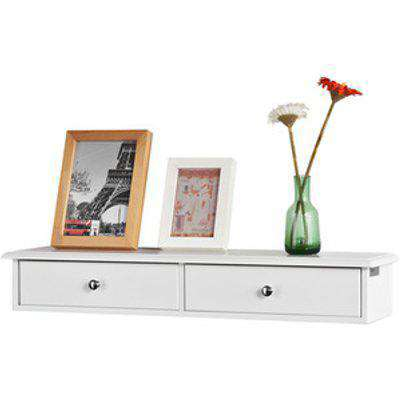 SoBuy Wall Drawers Floating Shelf - White