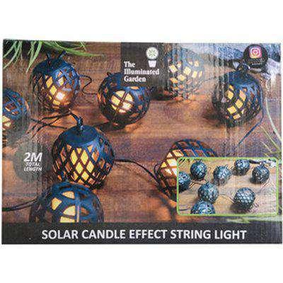 Solar LED Candle Effect String Light