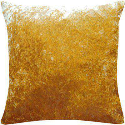 Square Plain Crushed Velvet Cushion Cover with Invisible Zip  - Gold / 1