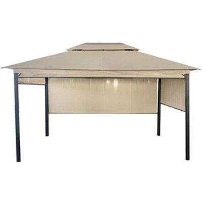 Steel Double Deck Roof Gazebo - Grey