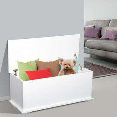 Storage Box Chest with Lid  - White