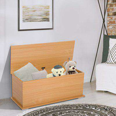 Storage Box Chest with Lid  - Burlywood