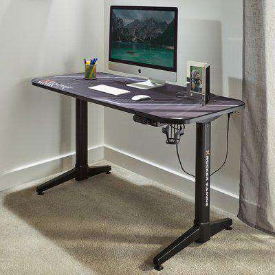 Stratos Electric Height Adjustable Standing Desk - Carbon Black