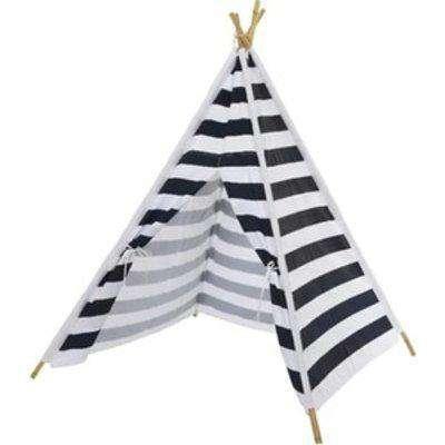 Stripe Teepee Play Tent - White