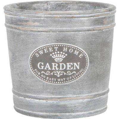 Sweet Garden Planter - Grey / 14cm