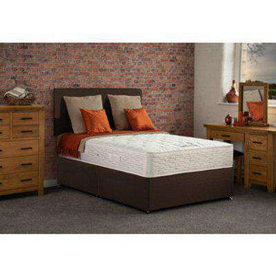 Swincombe Non Storage Divan Bed with Mattress - Brown / Small Double