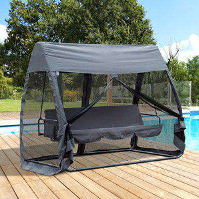 Swing Chair Bed Hammock 3 Person - Grey