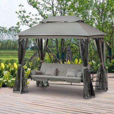 3 Seater Swing Chair Hammock - Grey